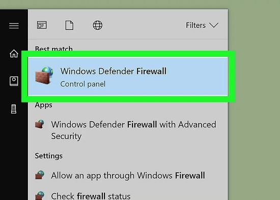 b3 chạy windows firewall
