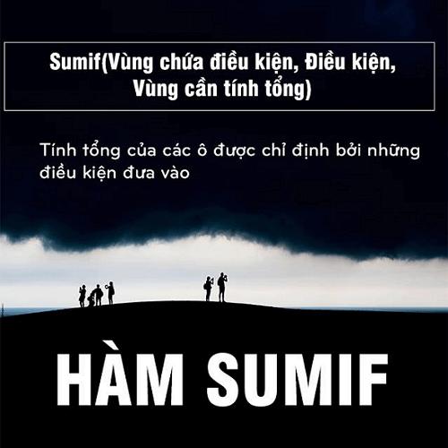 hàm SUMIF