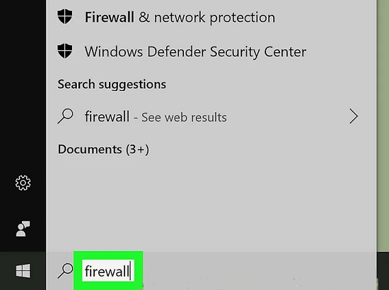 mở windows defender firewall