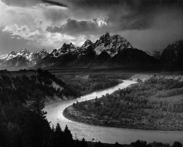 "tác phẩm ""The Tetons and the Snake River"" by Ansel Adams"