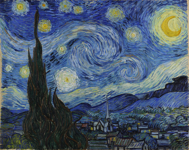 "tác phẩm ""Starry Night"" by Vincent van Gogh"