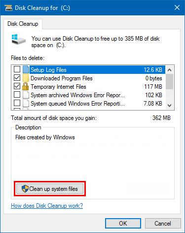 xóa windows.old bằng disk cleanup hình 4