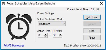 hẹn giờ tắt máy tính bằng máy tính windows hình 2