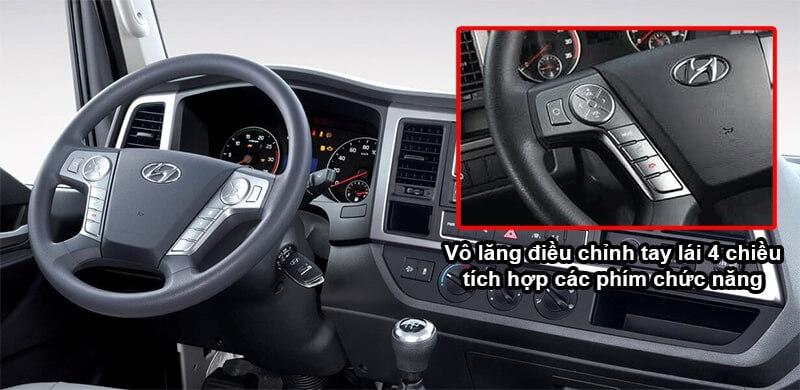 Nội thất xe tải Mighty EX8 Hyundai